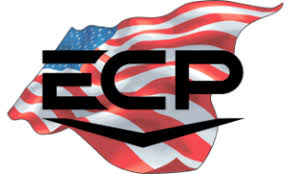 ECP logo with American flag as a backdrop